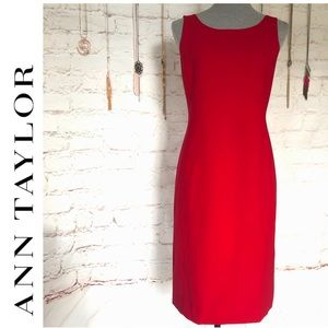 Ann Taylor Red Sheath Dress Size 2 NWOT